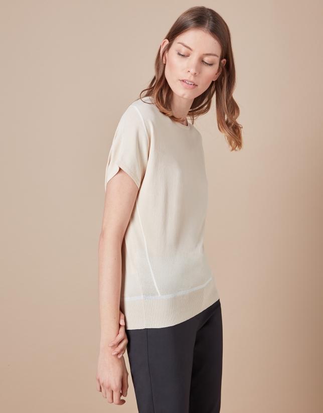 Beige oversize sweater