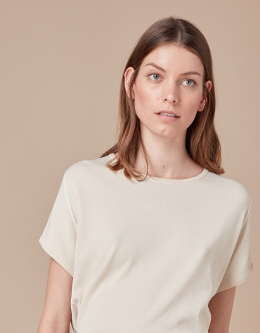 Jersey oversize beige