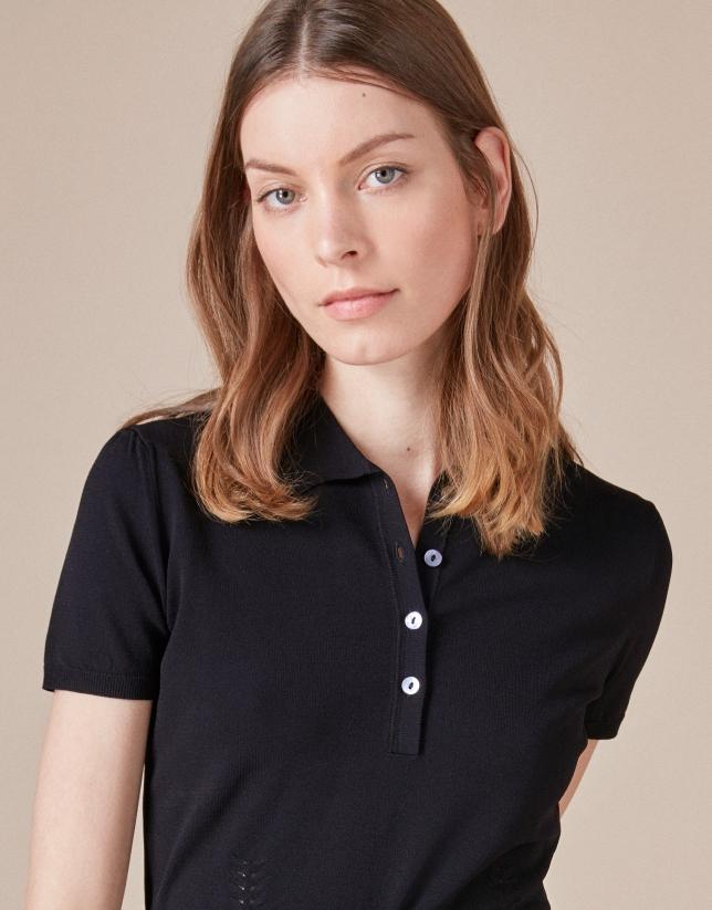Black knit top