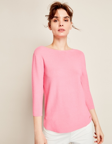 Pink structured sweater