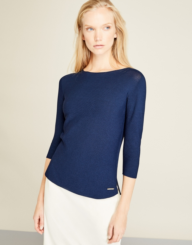 Blue Structure sweater