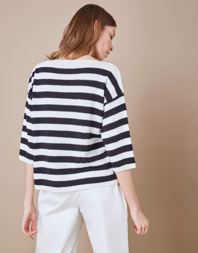 Sailor print sweater