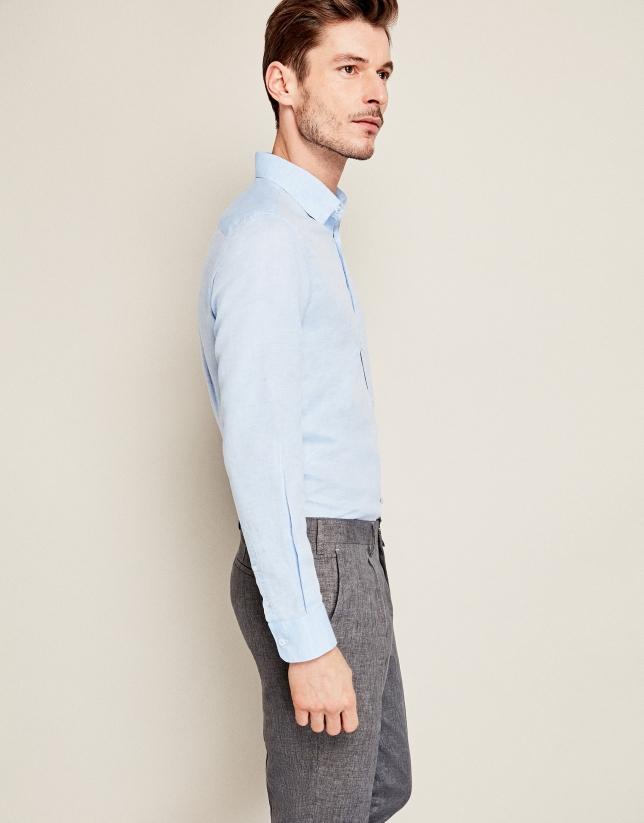 Pantalón lino gris