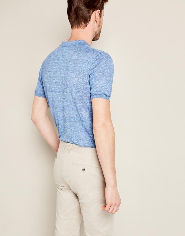 Pantalon de costume en coton beige