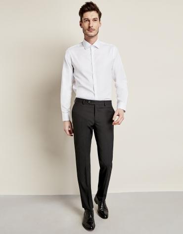Pantalon de costume en laine noir