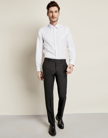 Plain white cotton dress shirt