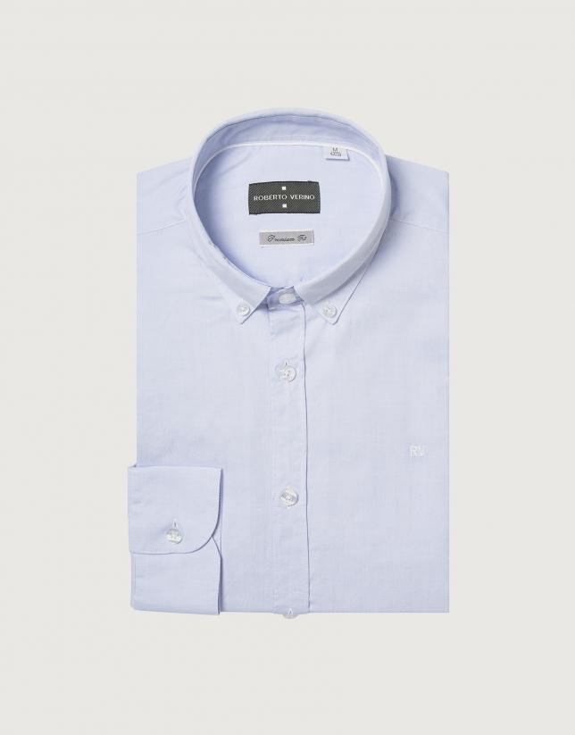 Camisa sport en oxford azul