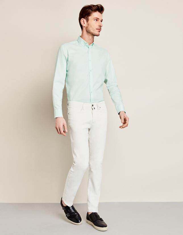 Camisa sport en oxford verde agua