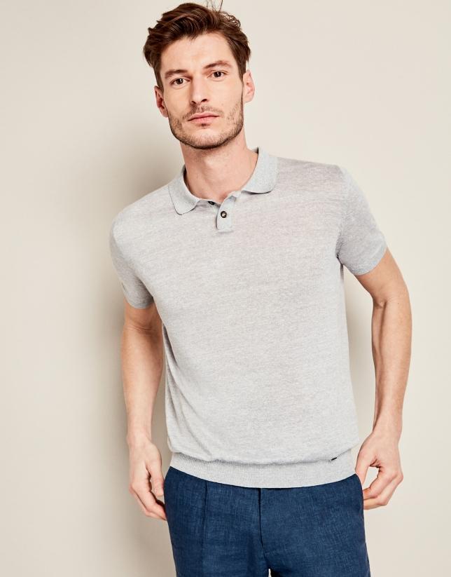 Gray mélange tricot t-shirt
