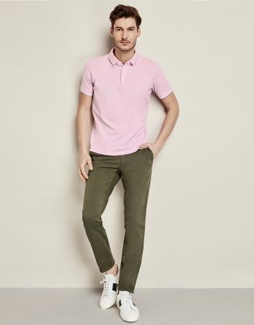 Pink piqué cotton t-shirt