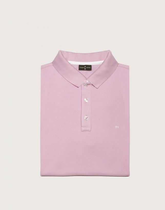 Polo piqué de algodón rosa