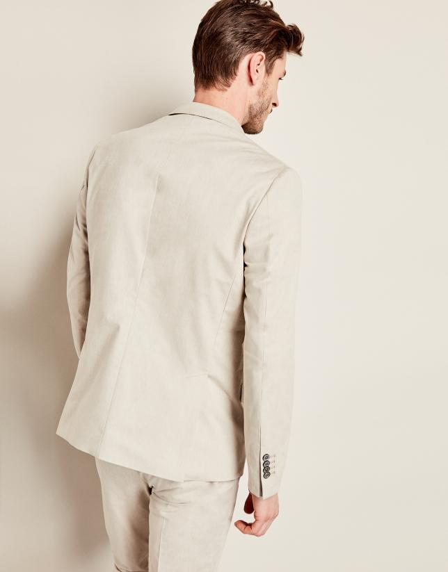 Americana algodón beige