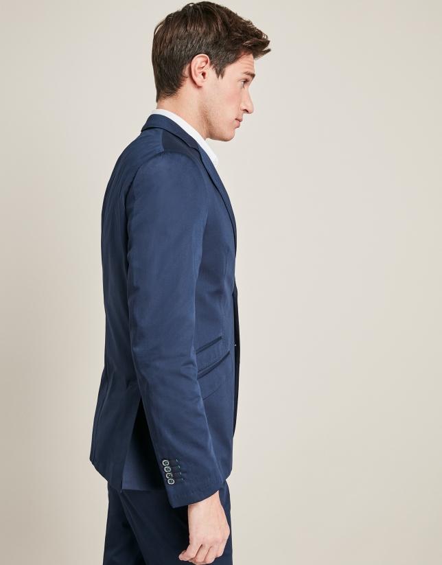 Veste en coton bleu marine