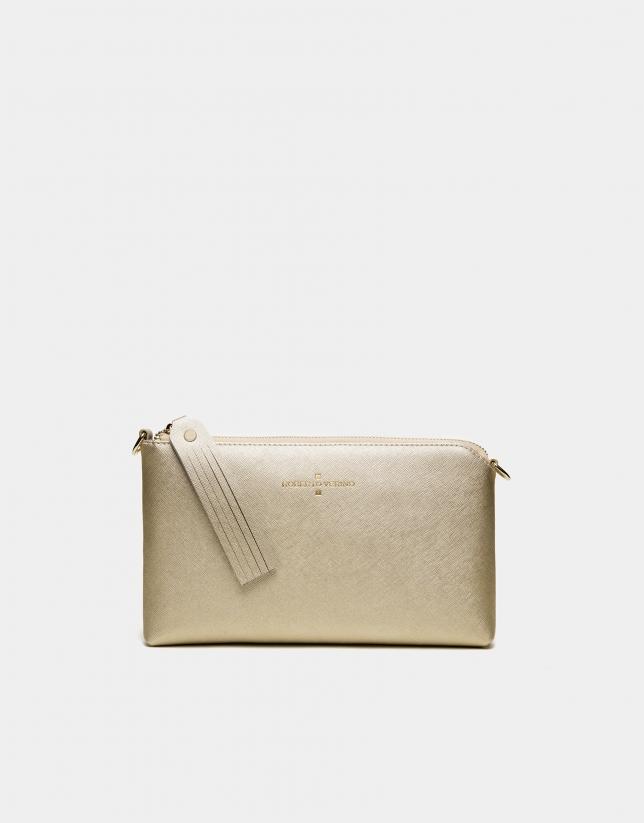Bolso clutch Lisa Nano oro chiaro