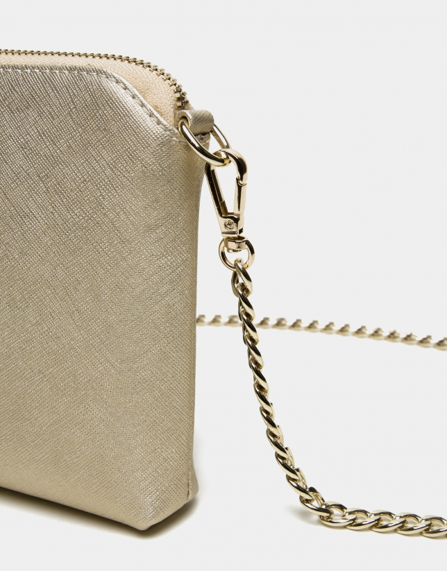 Lisa Nano clutch bag with Chiaro gold