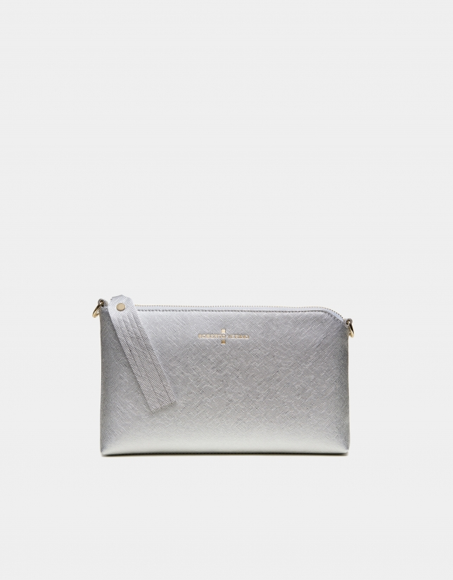 Lisa Nano silver clutch bag