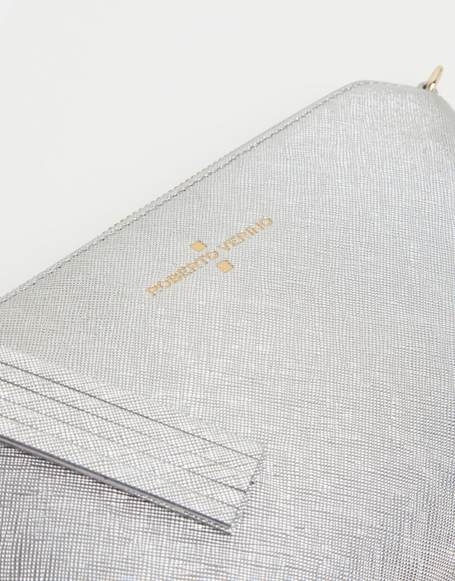 Bolso clutch Lisa Nano plata