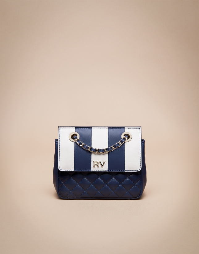 Blue Ghauri Nano quilted shoulder bag