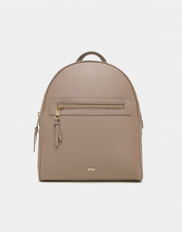 Nora plain leather backpack