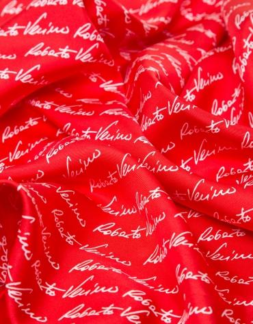 Red silk signature scarf