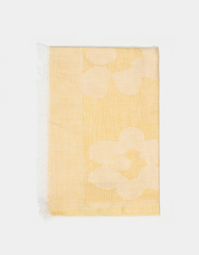 Chal jacquard floral ocre