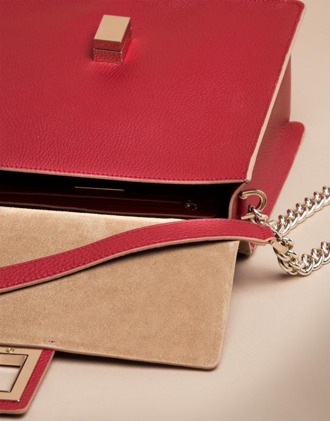 Red split leather Gazel Mega doctor's bag