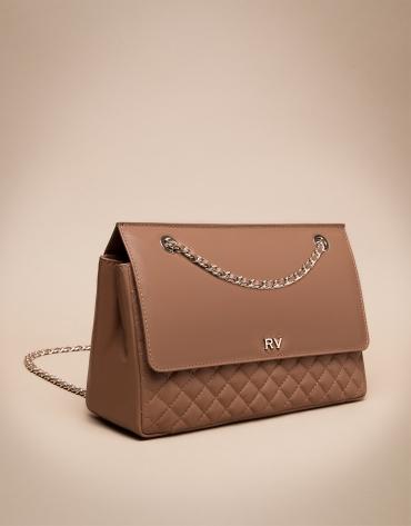Ghauri Mega brown leather shoulder bag