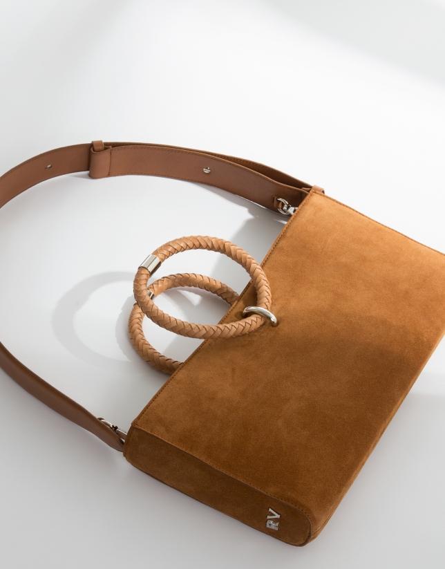 Bolso de hombro Kharan napa marrón