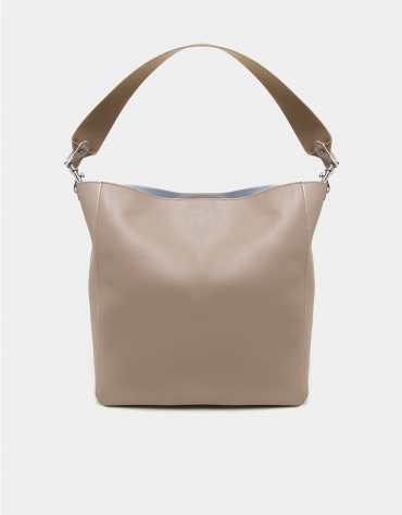 Camel leather Montparnasse shopping bag
