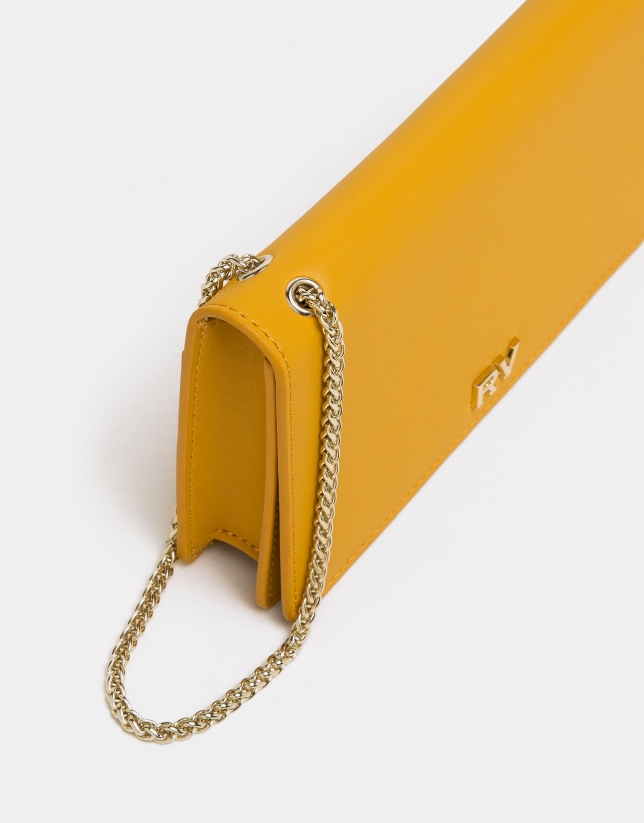 Yellow Sunset leather handbag