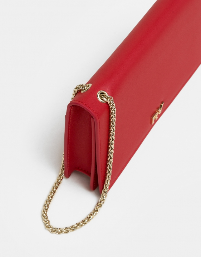 Red leather Sunset handbag