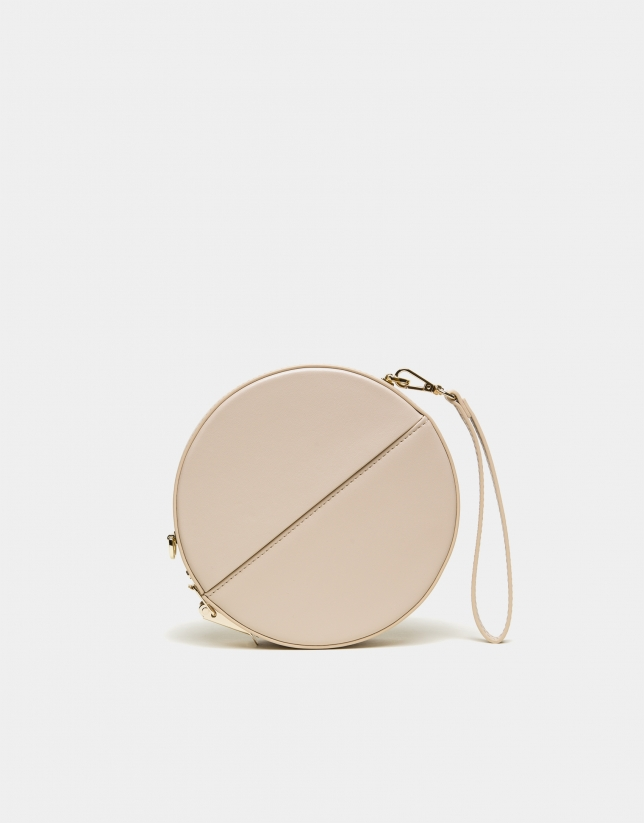 Sac rond Cookie imprimé serpent or clair