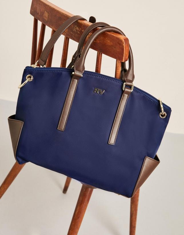 Bolso shopping nylon azul