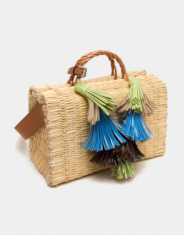 Junco straw bag Mega