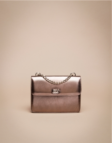 Mini copper Pompidou shoulder bag
