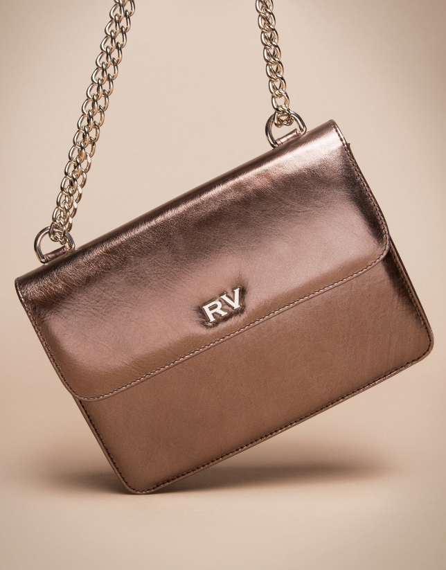 Mini copper Pompidou shoulder bag