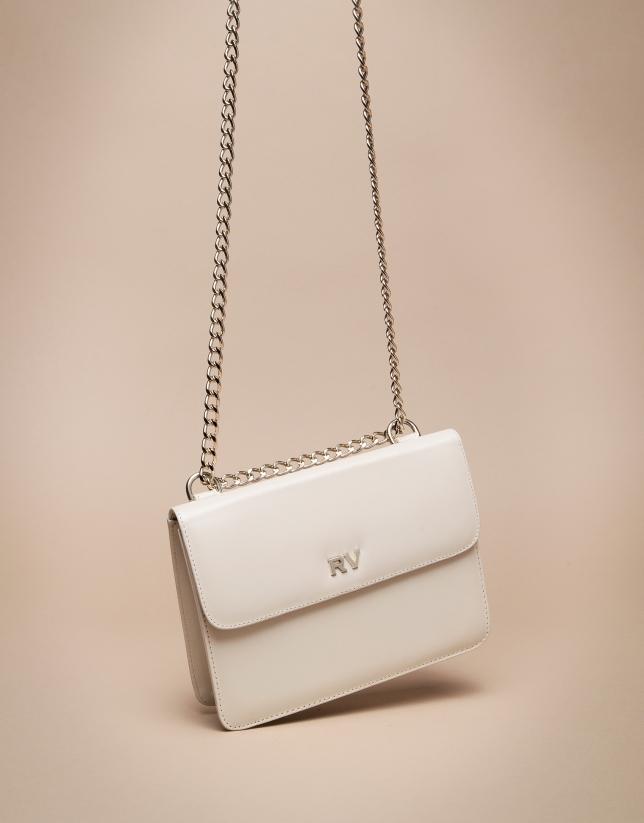 Mini ivory Pompidou shoulder bag