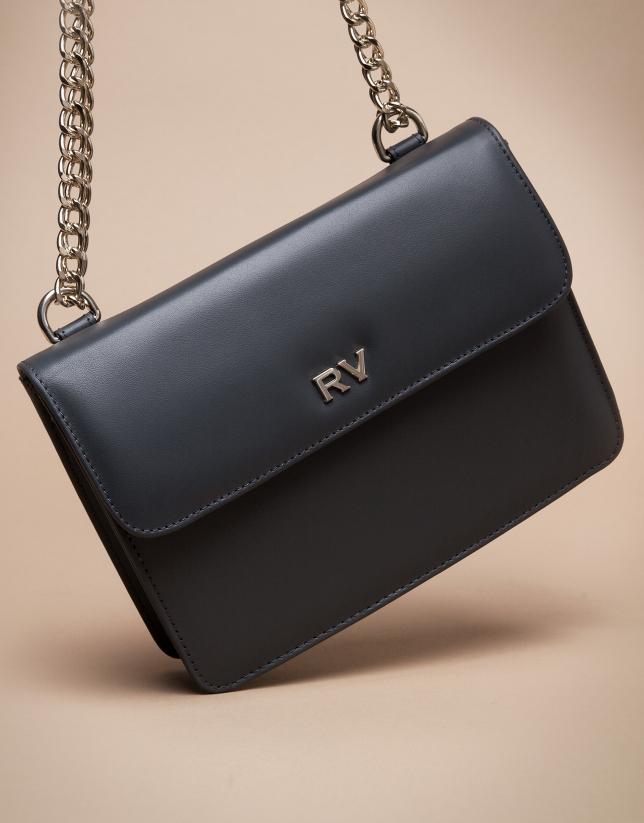 Mini black matte Pompidou shoulder bag