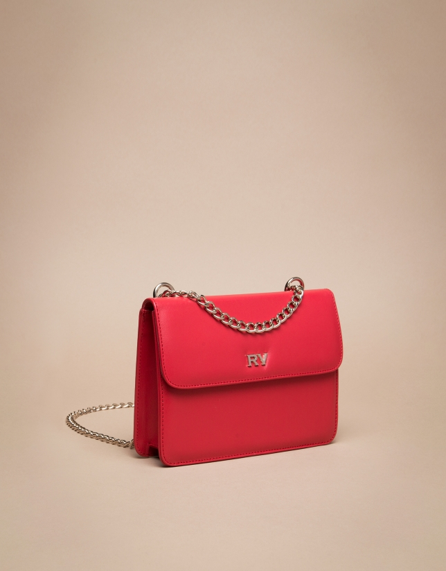 Mini red Pompidou shoulder bag