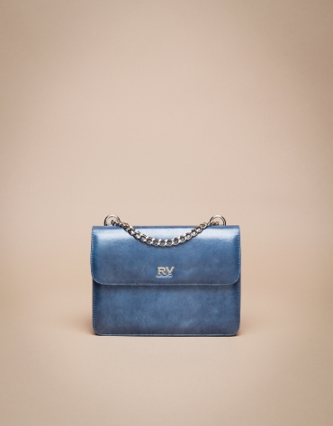 Mini blue Pompidou shoulder bag