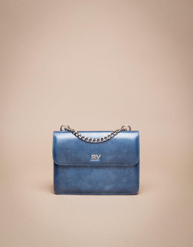 Mini blue Pompidou shoulder bag