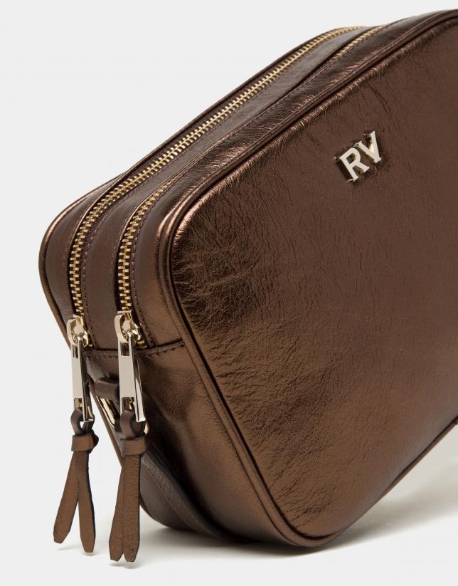 Bolso Taylor piel laminado cobre