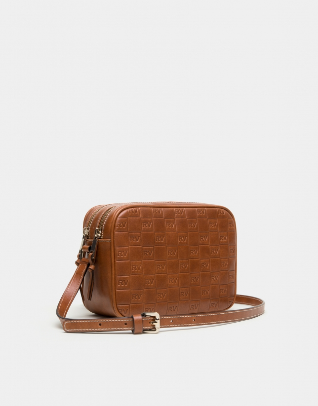 Embossed leather Taylor bag with RV logo