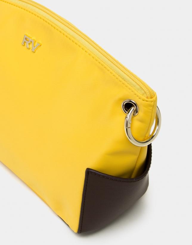 Bandoulière en nylon jaune