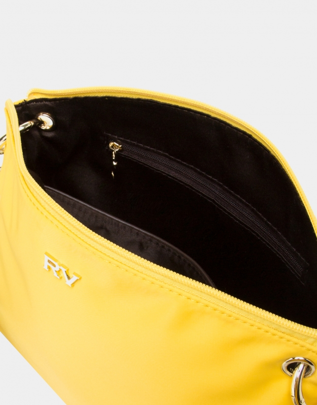 Bolso bandolera nylon amarillo
