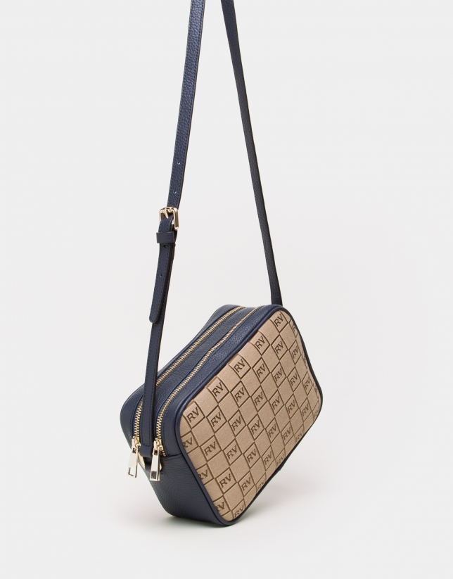 Blue canvas Taylor shoulder bag