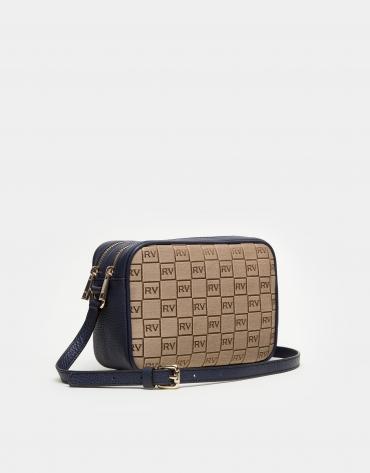 Blue canvas Taylor shoulder bag