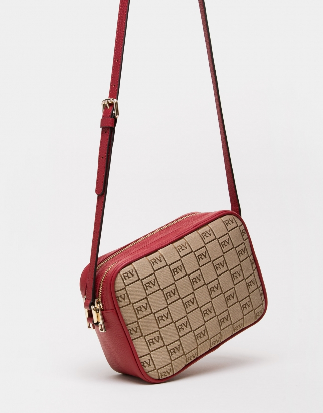 Red canvas Taylor shoulder bag
