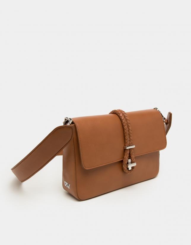 Leather Joyce portfolio with tie