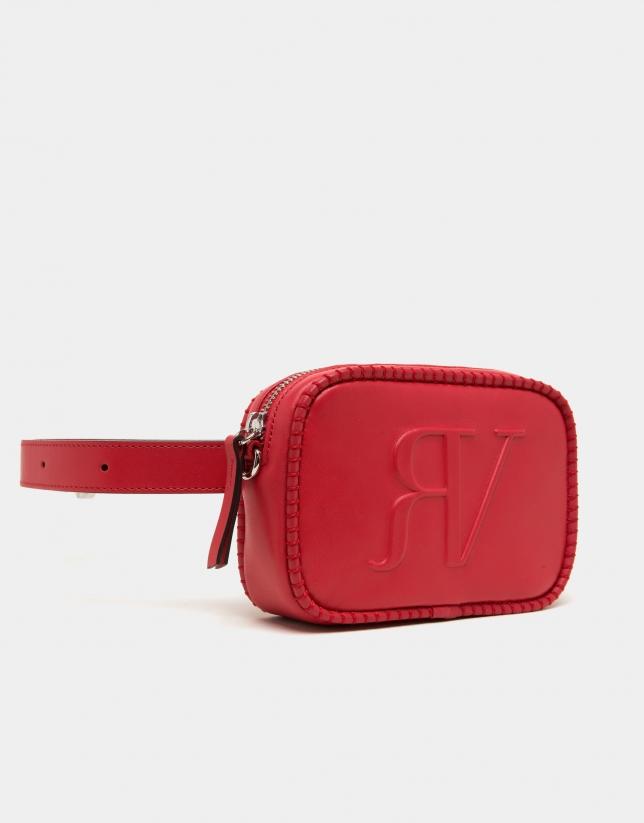 Bolso cinturón rojo